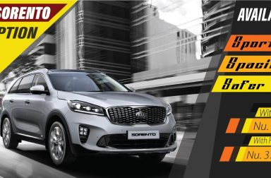 Kia Sorento Available in Stock! EX Option With Quota Nu. 29,44,000 (Full Tax Nu. 37,44,000)