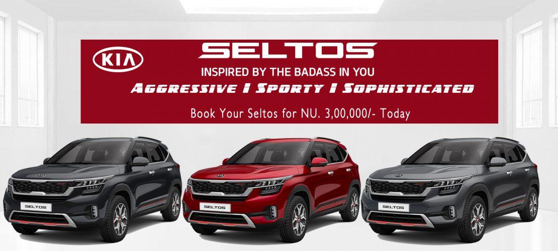 Book Your Kia Seltos Today at Nu. 3,00,000/-